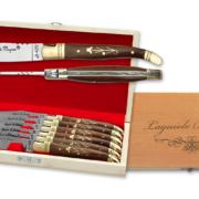 Coffret de couteaux de table Laguiole en palissandre