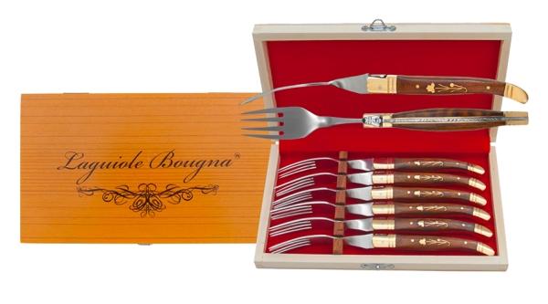 Coffret de fourchettes Laguiole en palissandre